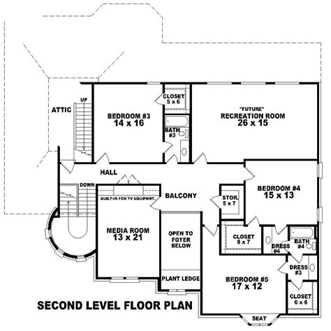 second story floor plans french country house plans home design su b3310 1573