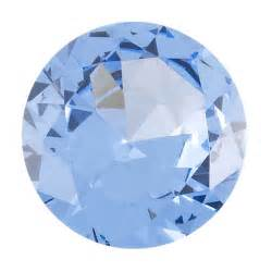 Metal Jewelry Making Supplies - simulated round 6mm aquamarine faceted stone