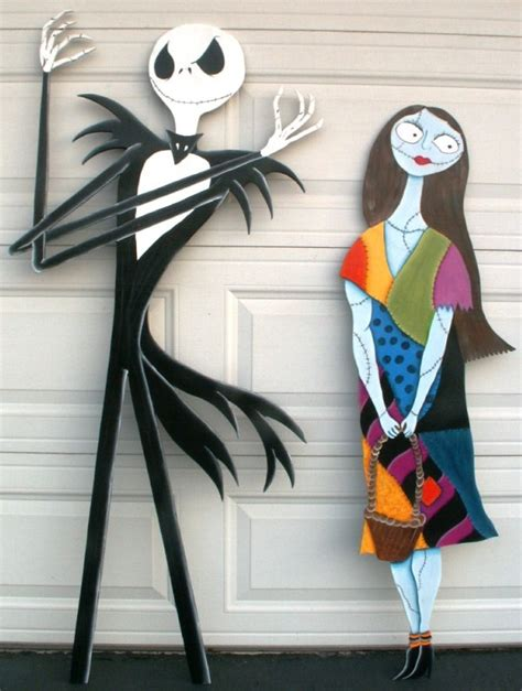 Skellington Decor by And Sally Nightmare Before Yard