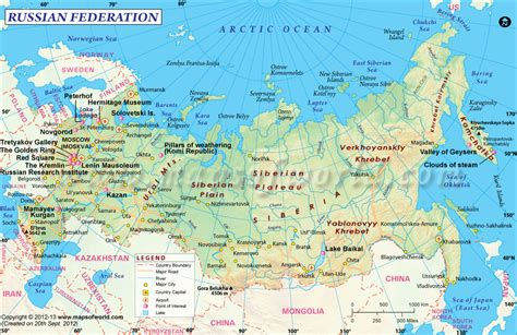 russia tourism map russia map tourist attractions from russia with
