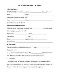 free dog puppy bill of sale form pdf word eforms