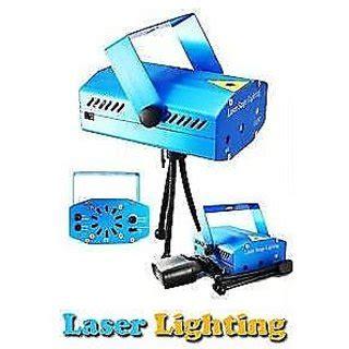 Mini Laser Stage Light Multicolor Projector 12 Pattern Blue 12 pattern mini laser projector stage lighting sound