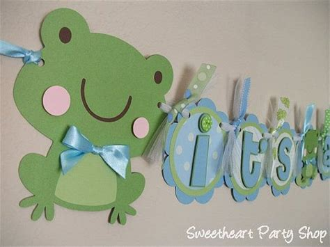 Frog Baby Shower by Frog Baby Shower Banner Baby