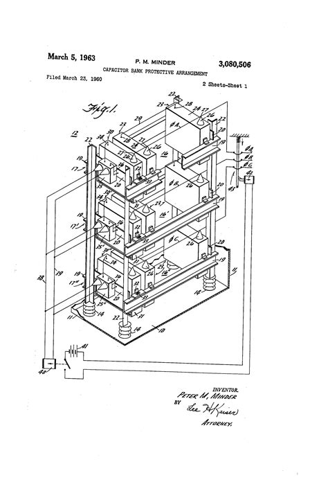 capasitor bank dwg patent us3080506 capacitor bank protective arrangement patents