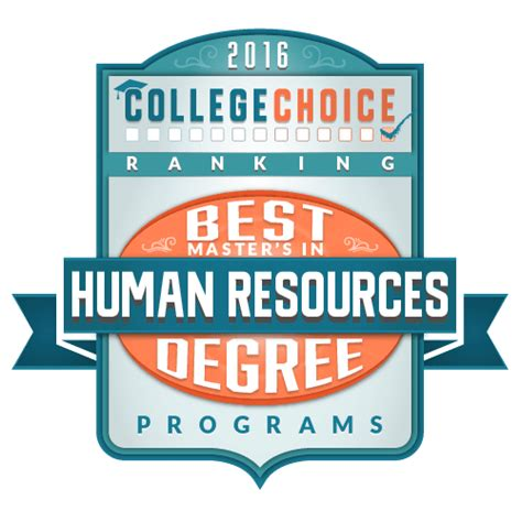 best master s in human resources degree programs for 2017