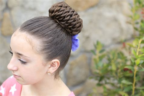 rope twist pinwheel bun prom hairstyles cute girls