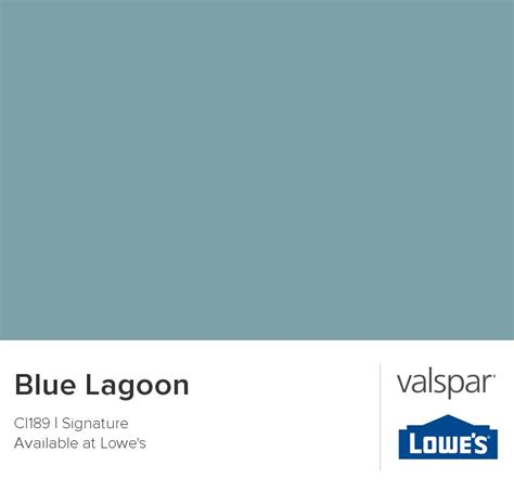 blue lagoon from valspar master retreat