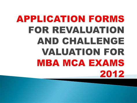 What Is The Form Of Mba And Mca by Vtu Notification Application Forms For Challenge