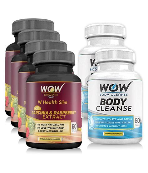 Wow Detox Buy by Wow Garcinia Combo With Wow Cleanse Booster Pack Of