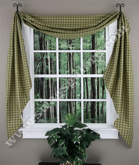 Swag Valances For Windows Designs Sturbridge Fishtail Lined Swags Dresses Up Windows And Adds Just The Right Accent To Complete A