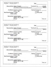 Rental Receipt Template Free Free Receipt Template Rent Receipt And Cash Receipt Forms