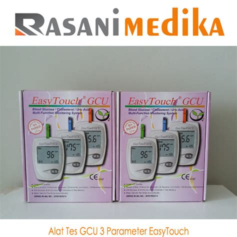 Special Produk Alat Easytouch Gcu Glucose Cholesterol Uric Acid alat cek gcu 3 parameter easytouch rasani medika