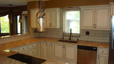 Painting Over Glazed Kitchen Cabinets