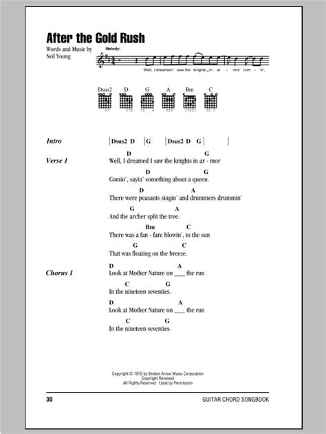 After The Gold Rush | Sheet Music Direct