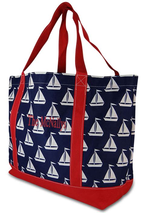 personalized boat tote bags monogram boat tote personalized