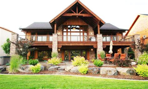 Modern Mountain Homes basement walkout ranch style house with walkout basement