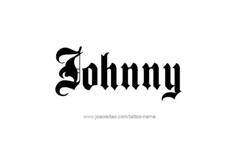 tattoo johnny fonts johnny name designs