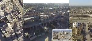 Drone footage shows how ramadi has been totally obliterated in heavy