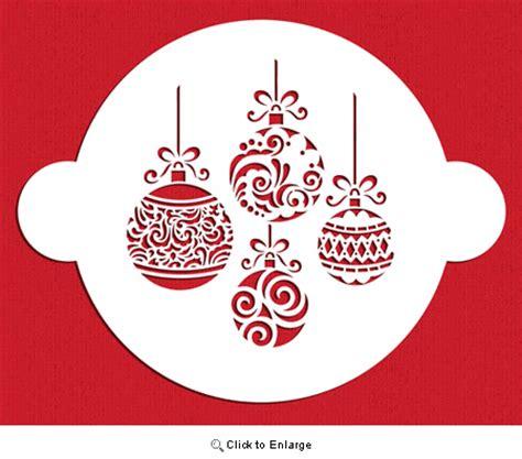 printable christmas stencils for cakes christmas balls cake top stencil by designer stencils