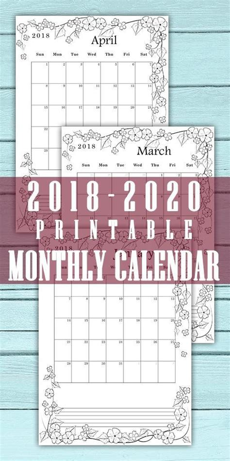 calendar    month  page monthly planner digital  office decor