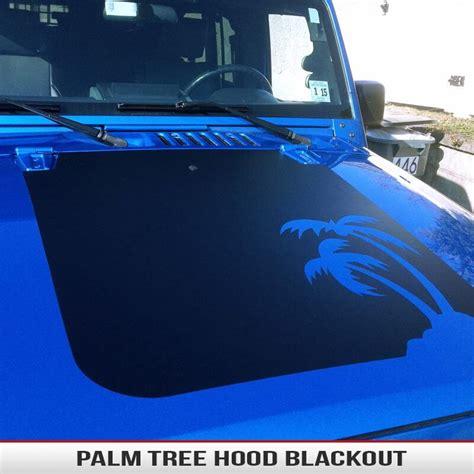 jeep beach decals palm tree jeep hood blackout alphavinyl