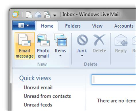 windows live mail 2011 set up broadband email