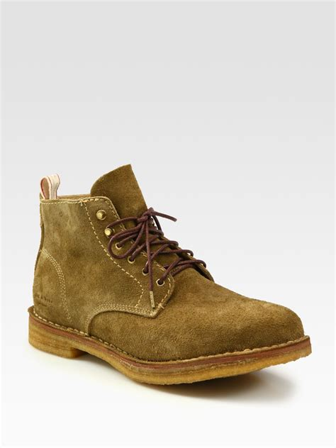 rag bone mens boots rag bone sheffield suede boots in green for lyst
