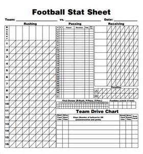 Soccer Stat Sheet Template by Football Score Sheet 9 Free Documents In Pdf