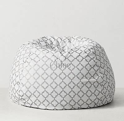 silver bean bag cover ogee canvas bean bag cover silver