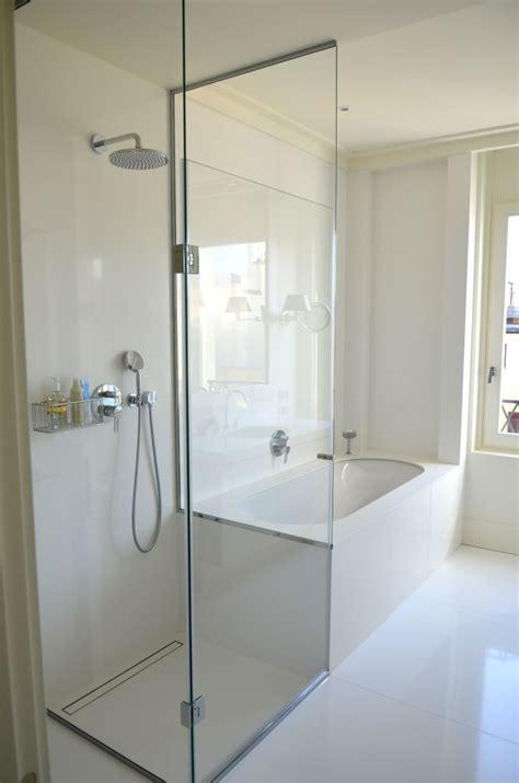 box doccia con muretto ojeh net parete dacqua a bolle