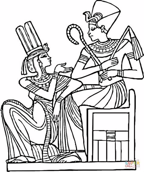 egyptian pharaohs coloring page free printable coloring