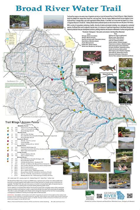 broad river map broad river water trail
