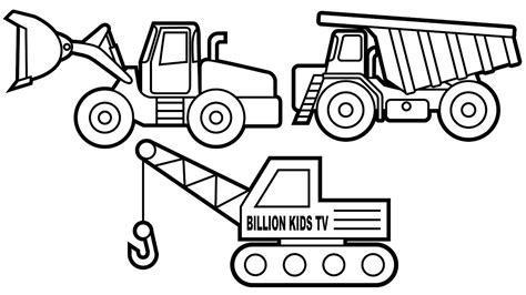 excavator truck coloring page colors dump truck crane truck and excavator coloring