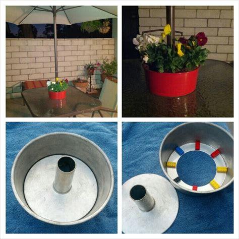 patio table umbrella planter bundt cake planter for patio table with umbrella i didn t