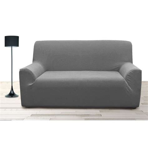housse de canape 2 places avec accoudoir housse de canap 233 3 places stretch gris achat
