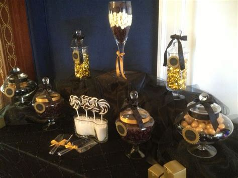 Black And Gold Wedding Candy Bar From Sweet Treats Candy