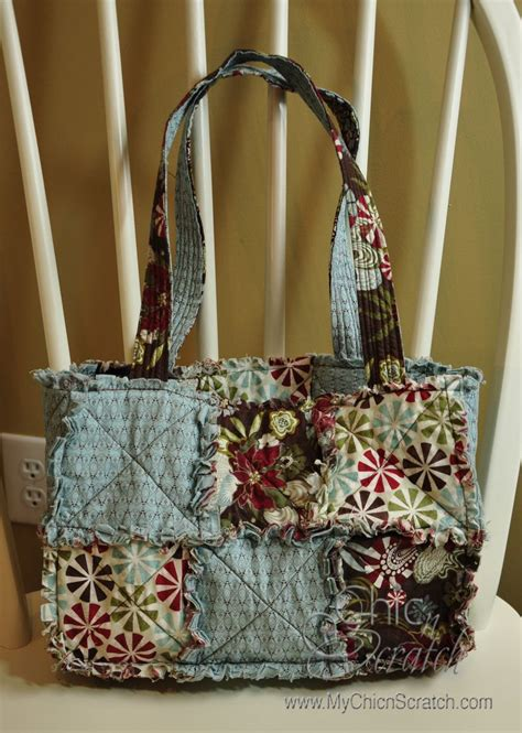 Quilted Purse by Rag Quilt Purse Chic N Scratch
