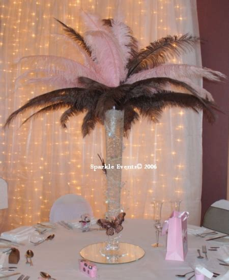 fall centerpieces with feathers uloaku s blog black damask borders wedding invitations