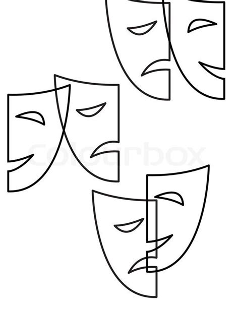 Theatre Mask Outline by 25 Best Ideas About Drama Masks On Ancient Ancient Theatre And