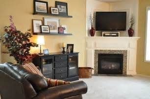 Decorating A Corner how to and how not to decorate a corner fireplace mantel