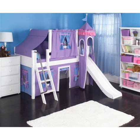 Furniture Wonderful Castle Bed With Slide For Kids Princess Bed With Slide