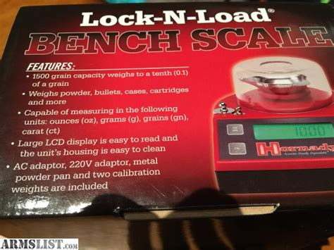 hornady lock n load bench scale armslist for sale hornady lock n load bench scale