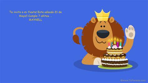 imagenes de feliz cumpleaños leo te invito a mi fiesta cumplea 241 os tarjetas