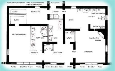 house plans to take advantage of view solar adobe house plan 1576 affordable solaradobe house