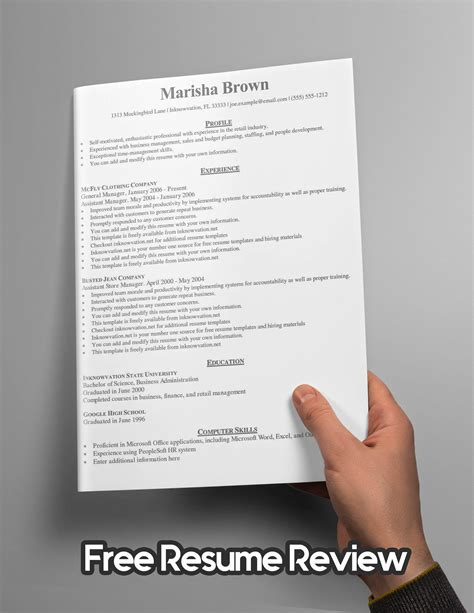Free Resume Evaluation by Free Resume Evaluation Talktomartyb