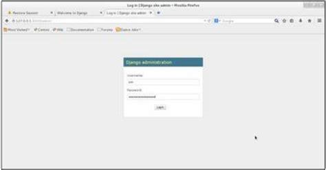 django tutorial create superuser django admin interface