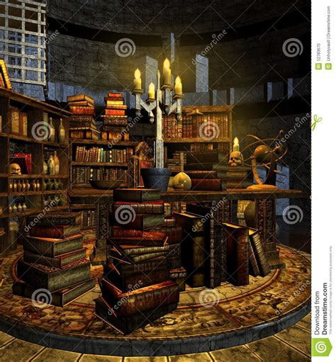 Interior Design Home Based Business wizard s study 3 stock photo image 12783670