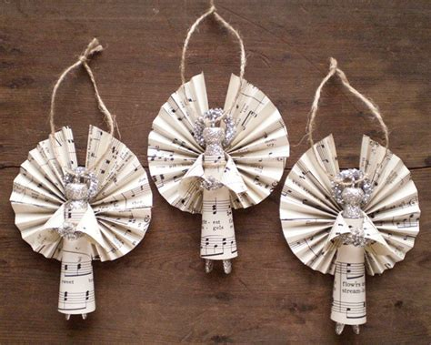How To Make Handmade Ornaments - clothespin handmade ornaments made with vintage