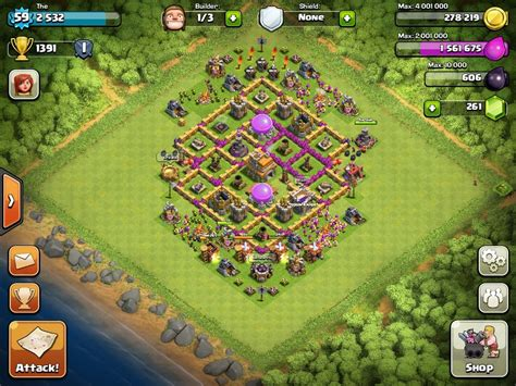 layout level 7 town hall top 10 clash of clans town hall level 7 defense base design
