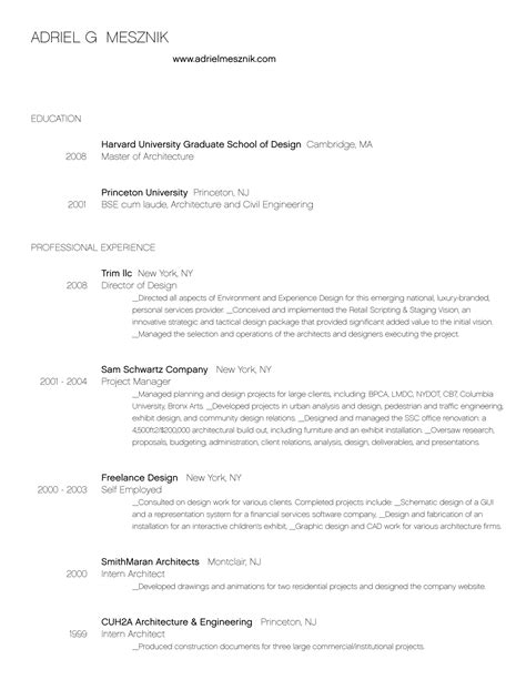 Graduate Architect Resume Sle Resume For Architect Sales Architect Lewesmr